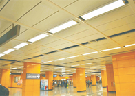 airports Expansive Commercial Ceiling Tiles K shaped With Akzo Nobel powder coating