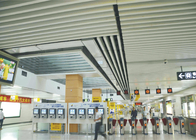 Architectural Decorating Curling Aluminium Baffle Ceiling False for Airport