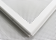 600 x 600 Acoustic Ceiling Tiles Aluminum Perforated Metal Ceiling for Open Area