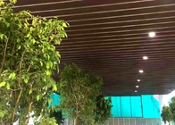 Roller Coated Wood Color Aluminum Baffle Ceiling For Shopping Mall 12 Years Warranty