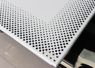 Aluminium Perforated Metal Ceiling panel / Round Hole Punching Platfond Panel
